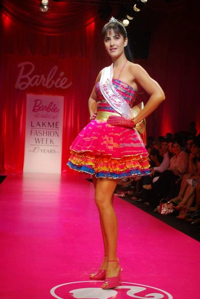 Katrina Kaif walk the ramp for Barbie doll Show at LIFE