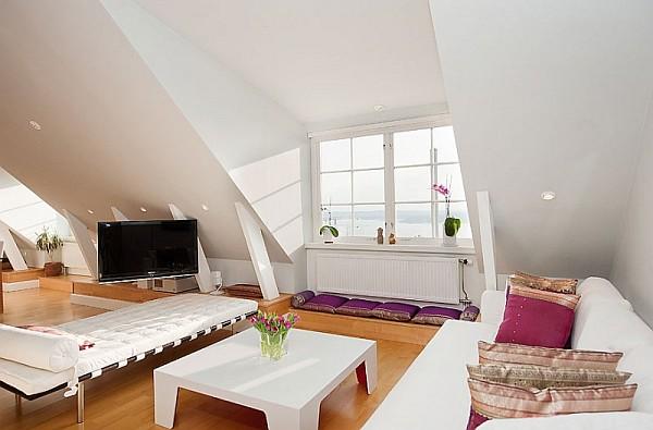 decorating ideas for attic apartments - Evim İçin Herşey Çatı Katı Dekorasyon Fikirleri