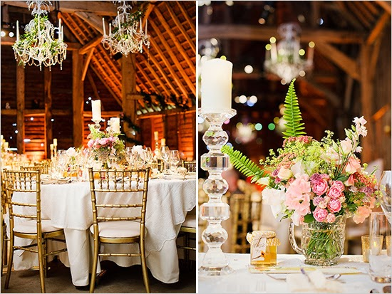 This Barn Wedding For 150 Comes In Right Around 20000 A Few Reasons While They Still Chose To Have Beautiful Linens And Centerpieces Used Lots