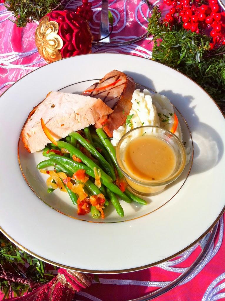Christmas Dinner plate - low carb Christmas Dinner