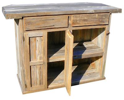 Rustic Outdoor Wooden Bar