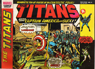 Marvel UK, Titans #6, Captain America