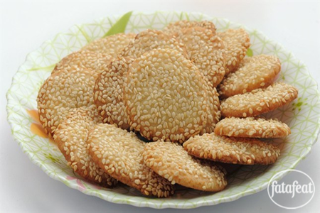 flour and sugar with hands until you get soft dough Barazek (Syrian Sesame Cookies) Recipe