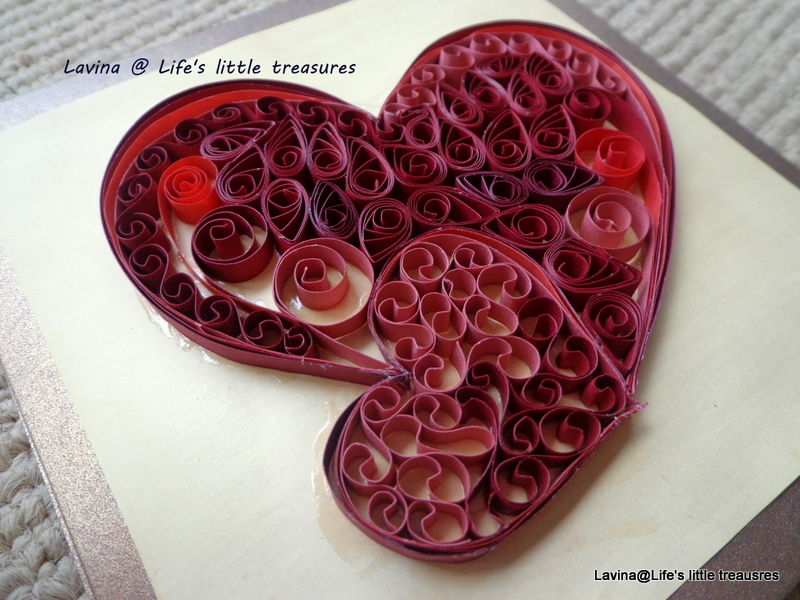 Life s little treasures quilled hearts anniversary card