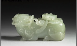 Qianlong Celadon jade beast