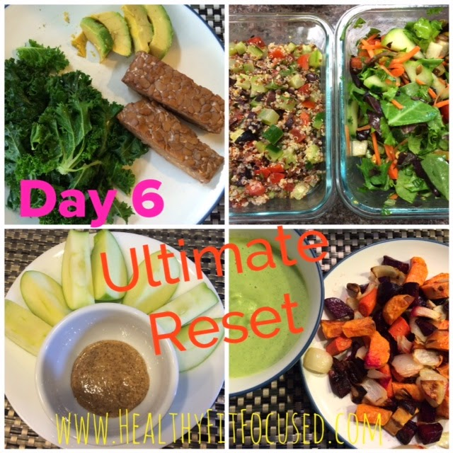 Ultimate Reset Day 6 Meals