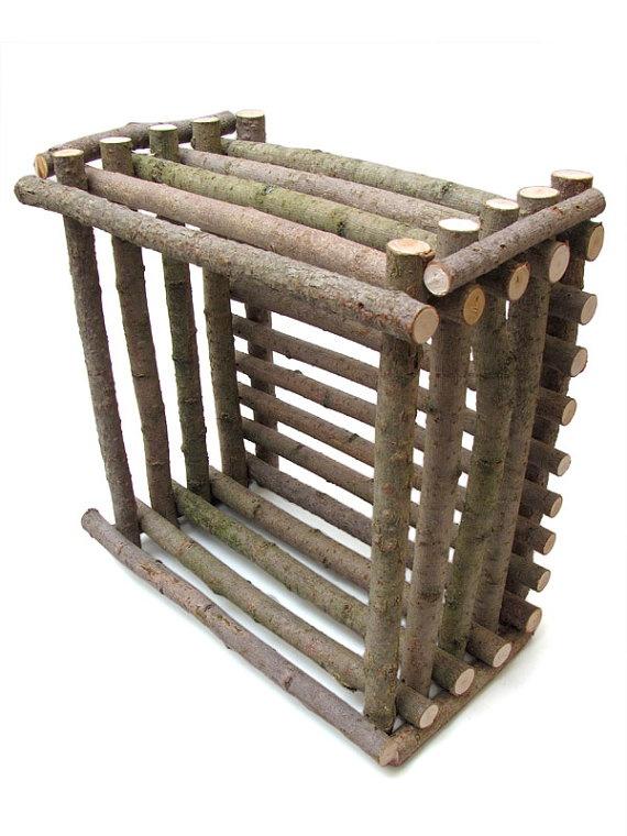 Nicho reutilize madeira rústica