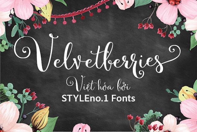 [Hand-write] Velvetberries Handmade Script Việt hóa