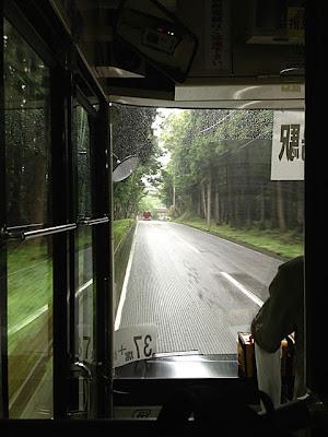 会場までのバスからの風景