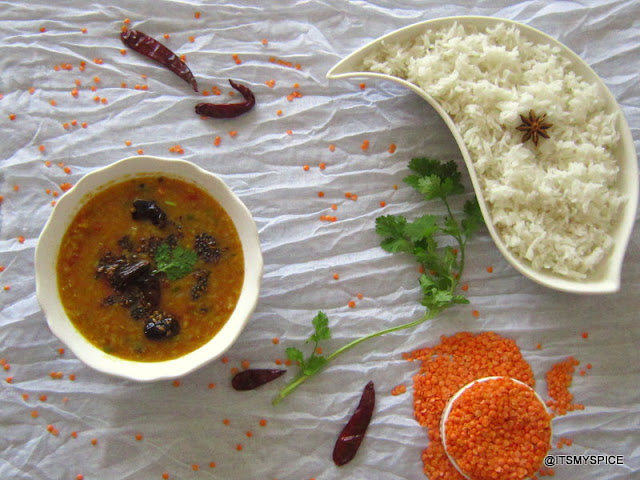a quick and easy dal for rice or chapathis
