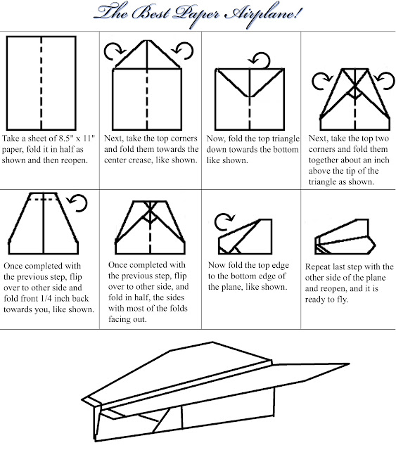 paper airplane designs and how to make them