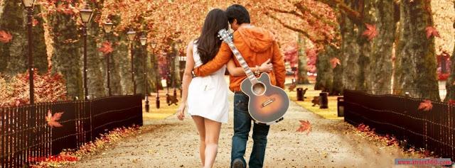 Ảnh bìa lãng mạn cho Facebook - Cover FB romantic timeline, đi dạo với người yêu
