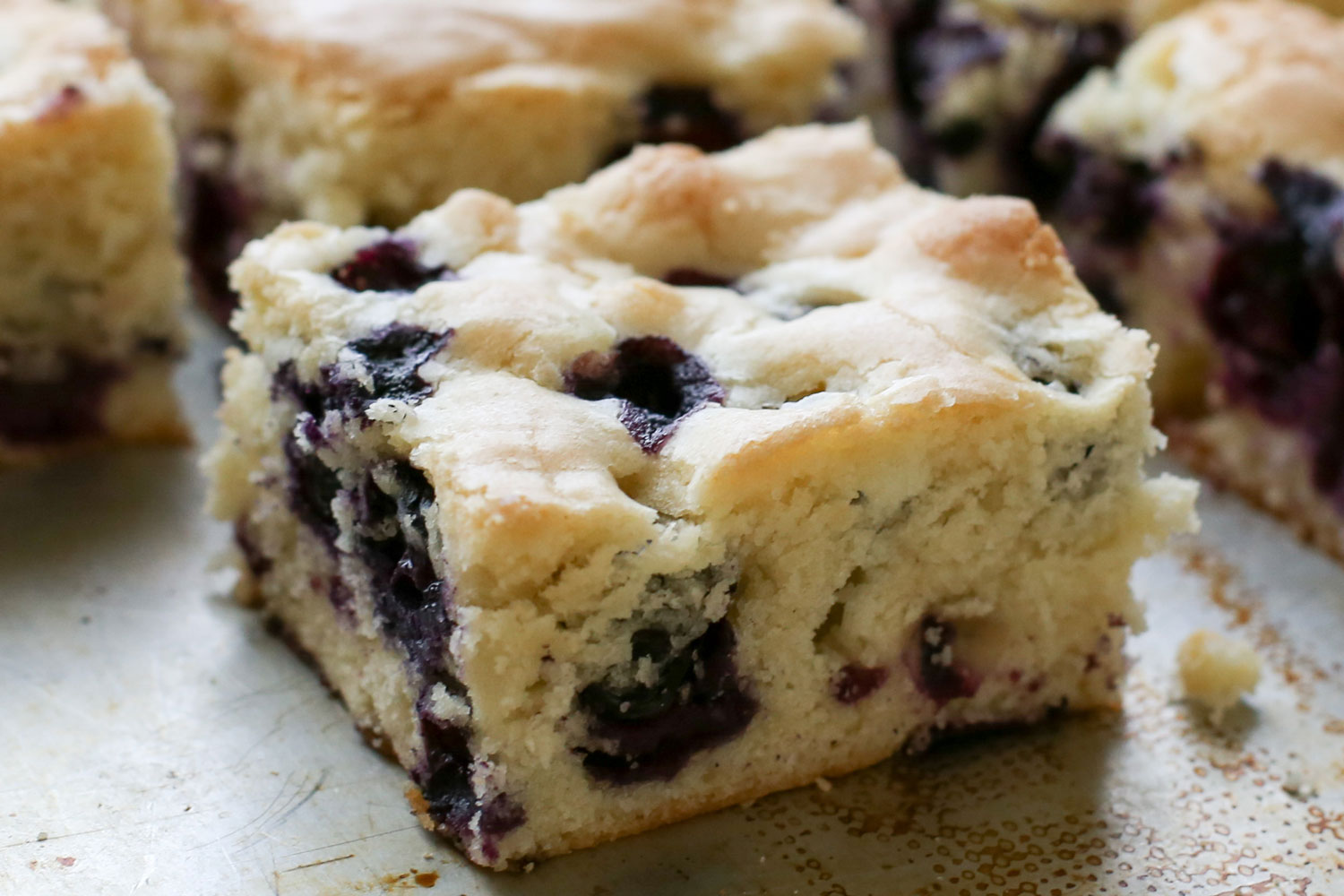 Barefeet In The Kitchen's Top 10 Recipes for 2014 - Blueberry Snack Cake