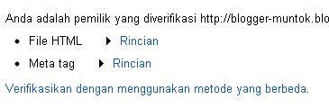 Cara Verifikasi Blog di Google