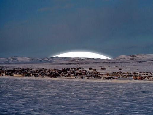 Pemandangan cincin bumi kutub