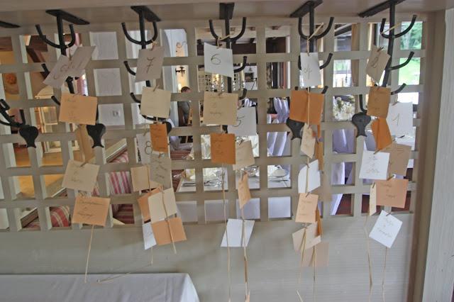 Hochzeits-Ideen - Tischplan