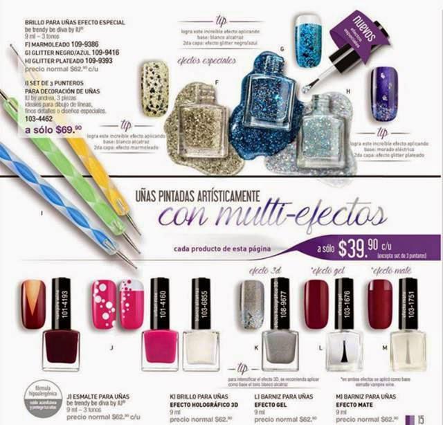 Esmaltes para uñas Andrea IU P-2015