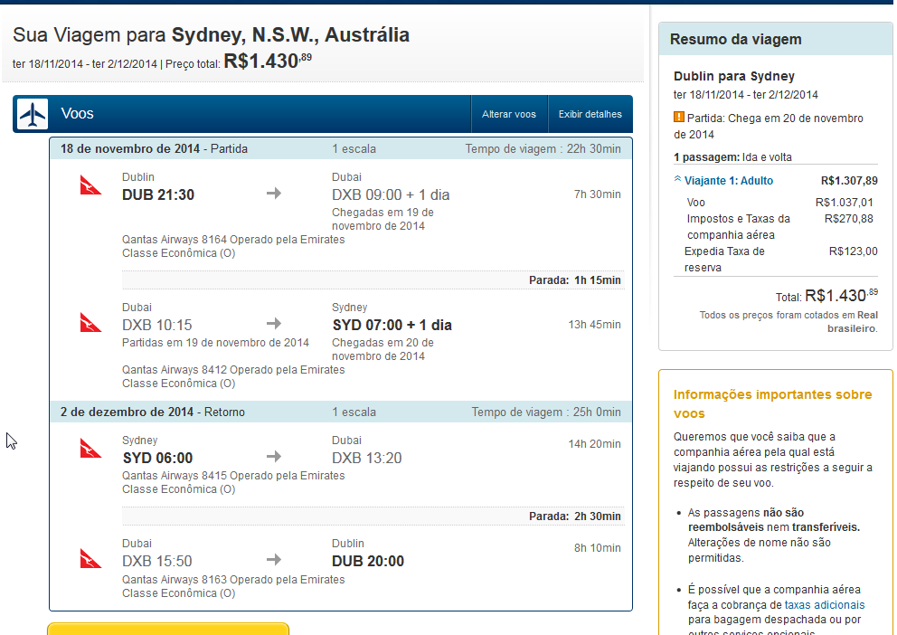 Expedia Brazil Error Fare