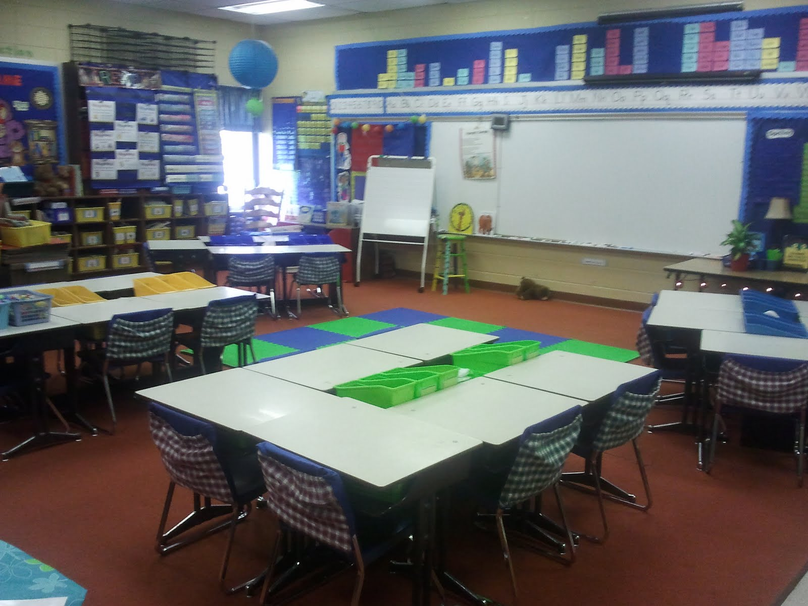 Classroom Workstation Ideas ~ Class meeting spaces and whole group instruction areas