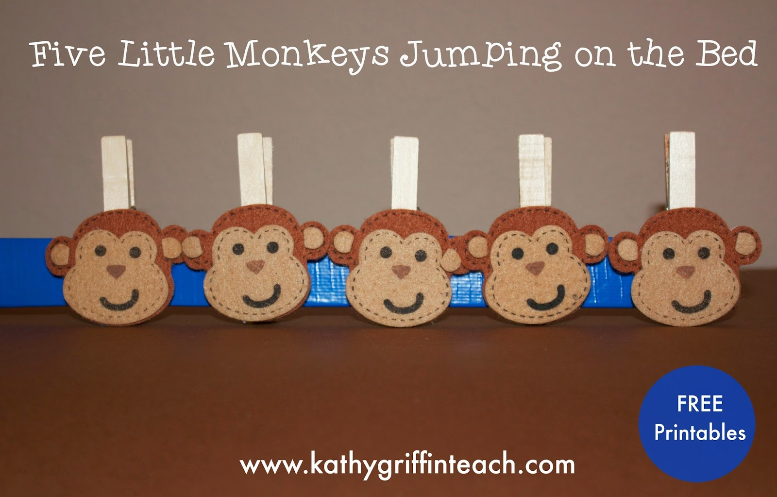 kathy griffins teaching strategies five little monkeys jumping on the bed activities