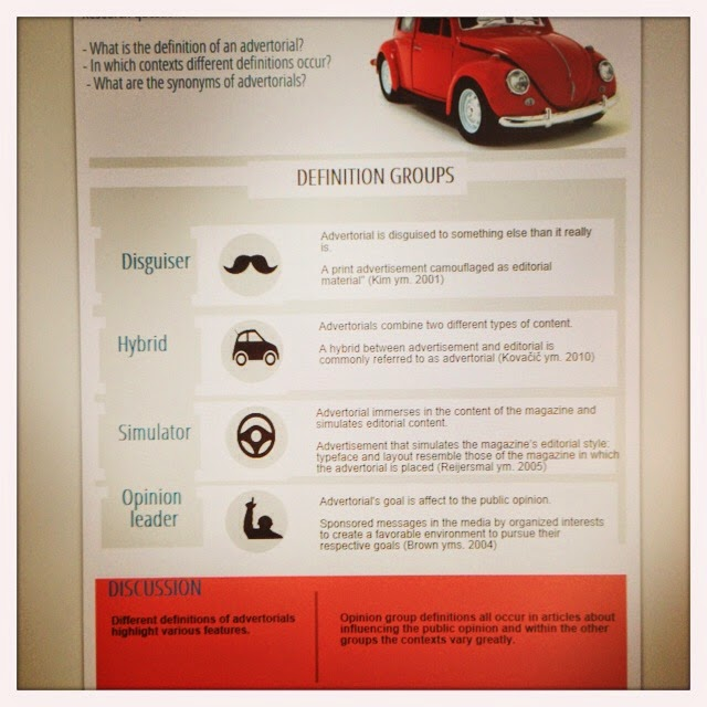 advertising layout definition