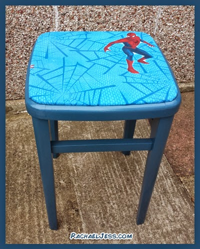 Spiderman upcycled seat