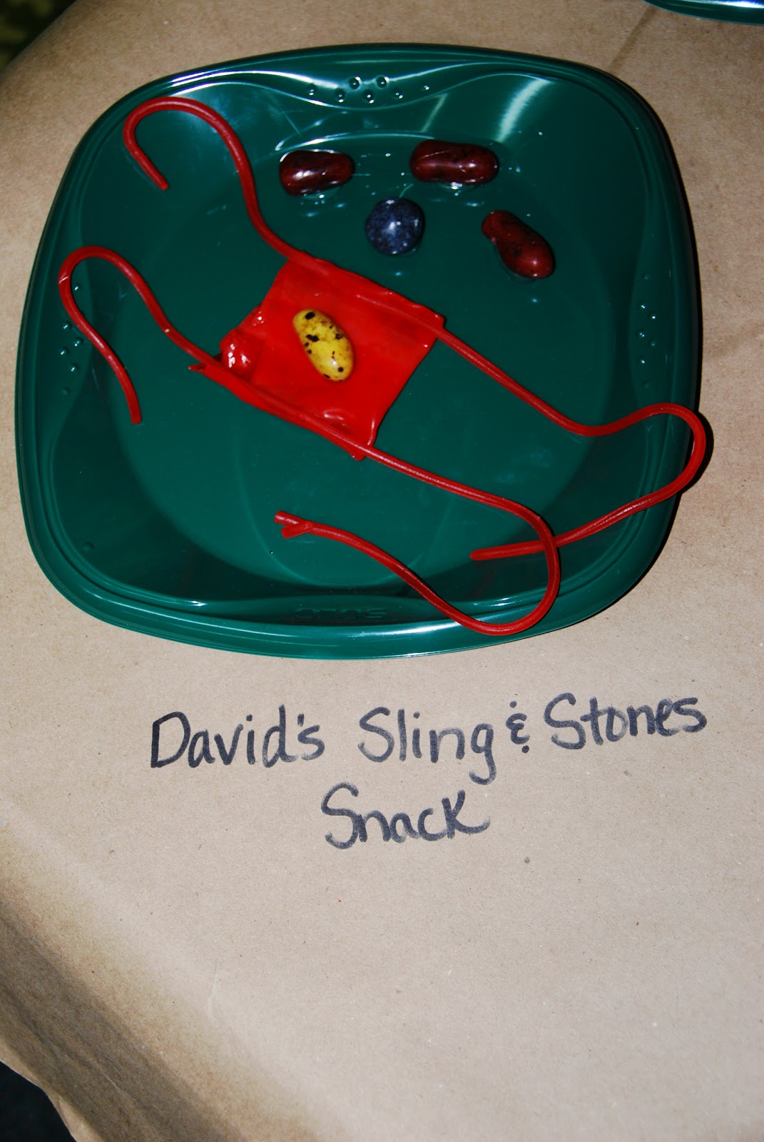 Life 39 s a bowl of cherries david 39 s sling stones snack craft for David and goliath craft