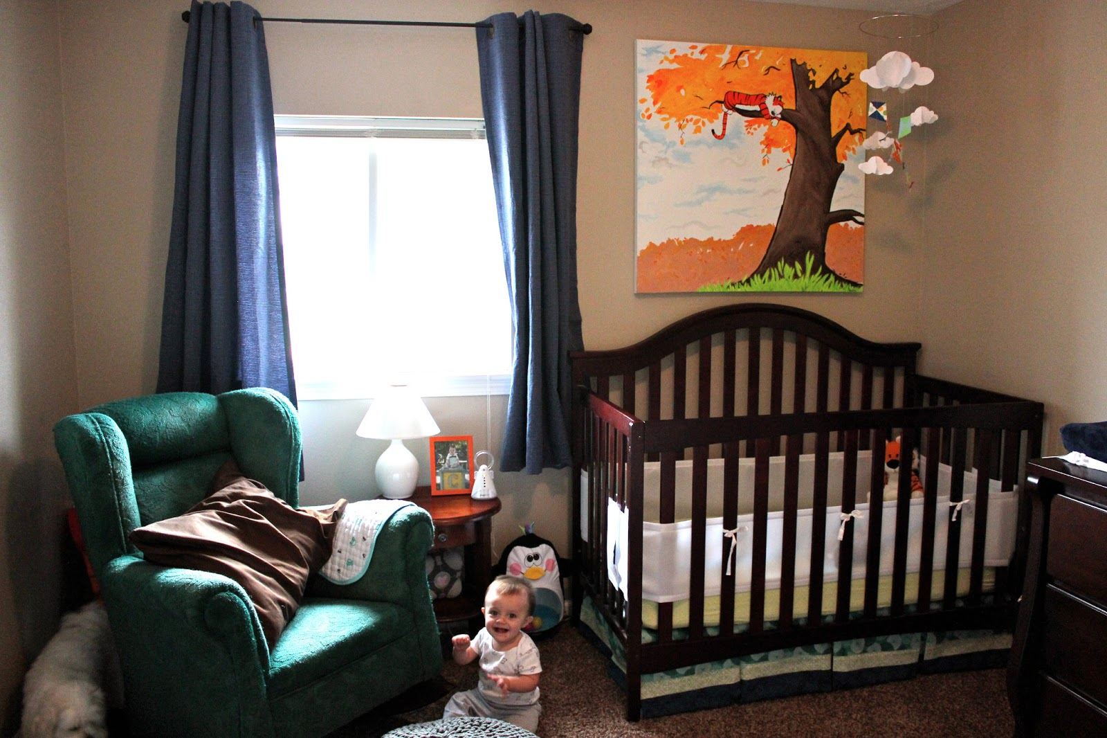 three more weeks calvin s room tour i ordered the crib nightstand dresser and wall shelves