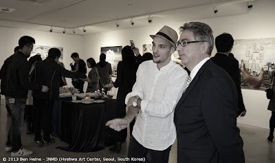 Artist Ben Heine with Belgian Ambassador in Seoul, South Korea - The Universe of Ben Heine - First Solo Exhibition in Asia