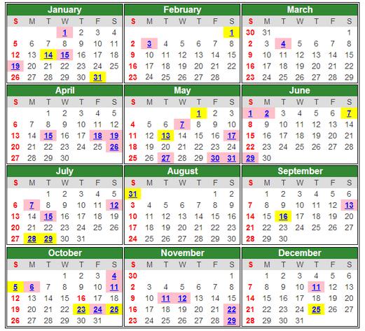 Kalendar dan Tarikh Cuti Umum 2014 Malaysia