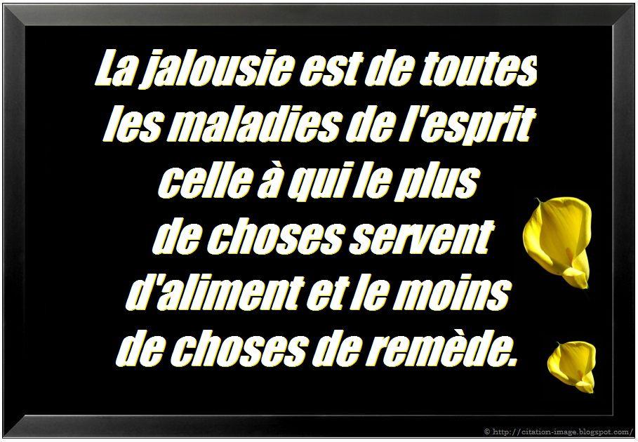 Citation jalousie en image ~ Citation en image : photo citation