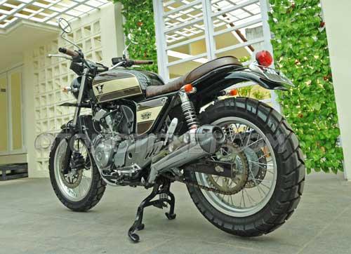 Modifikasi Suzuki Inazuma 2012, Bergaya Classy Classic Tracker