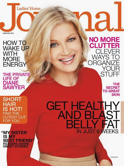 Diane Sawyer Photos from Ladies Home Journal US Magazine Cover February 2014 HQ Scans