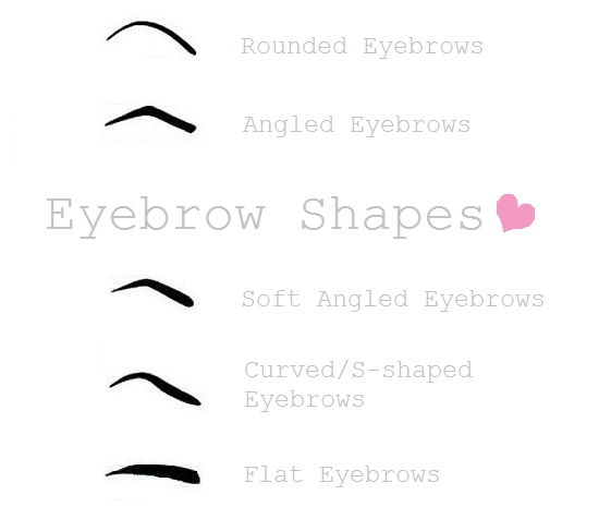 What eyebrow shape - Brows - How to - Which eyebrow shape is best - round - curved - arched - flat