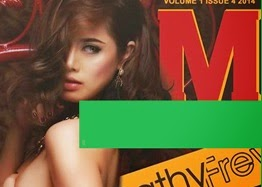 Cathy Frey is Topless for M Magazine!