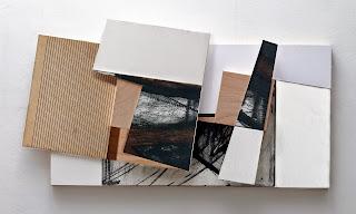 Kuno Lindenmann, O.T. DA 106/I, Bildobjekt/Mischtechnik, 40 x 90 cm (Detail), 2013