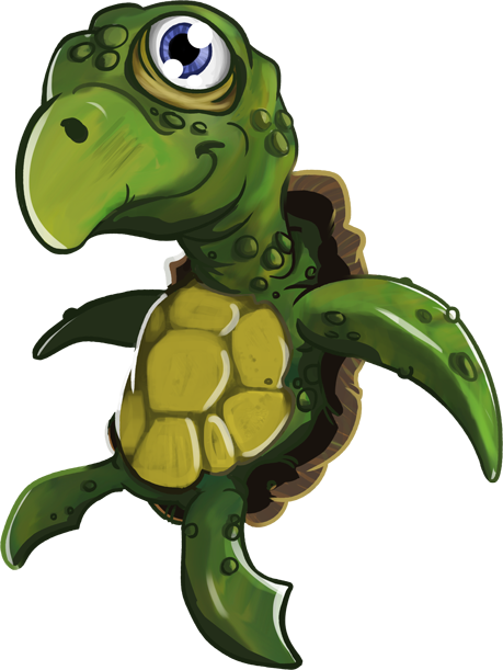 Turtle illlustration from Seepia Games' Tetrablok