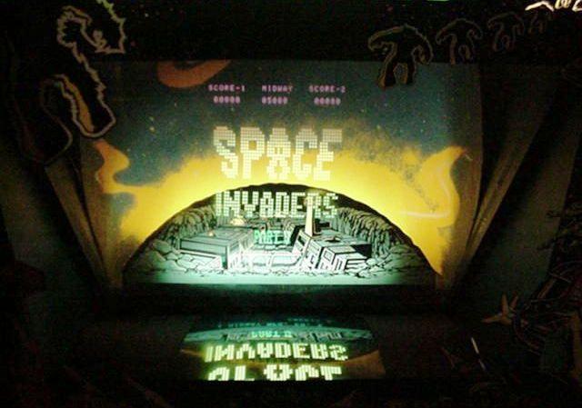 Imagen de una recreativa con Space Invaders