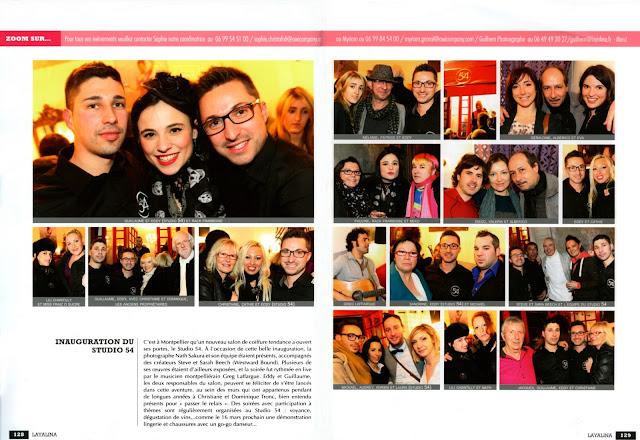 """Article sur l'inauguration du Studio 54 dans le magazine """"Layalina"""" du mois de mars 2013."""