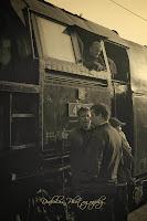 """Strojovna lokomotivy a její """"crew"""""""
