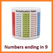 Multiplication-table-numbers-ending-in-9