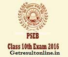 PSEB 10th Date Sheet 2016