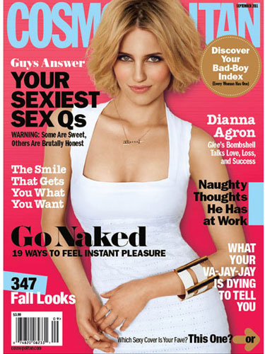 The sex tips article in the September issue of Cosmo is called Guys Answer ...