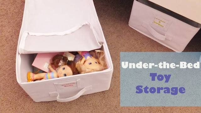 zipper lid under the bed storage for toys