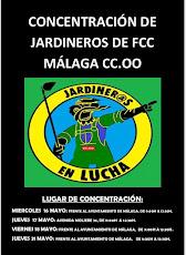 Concentraciones de Jardineros de FCC Málaga