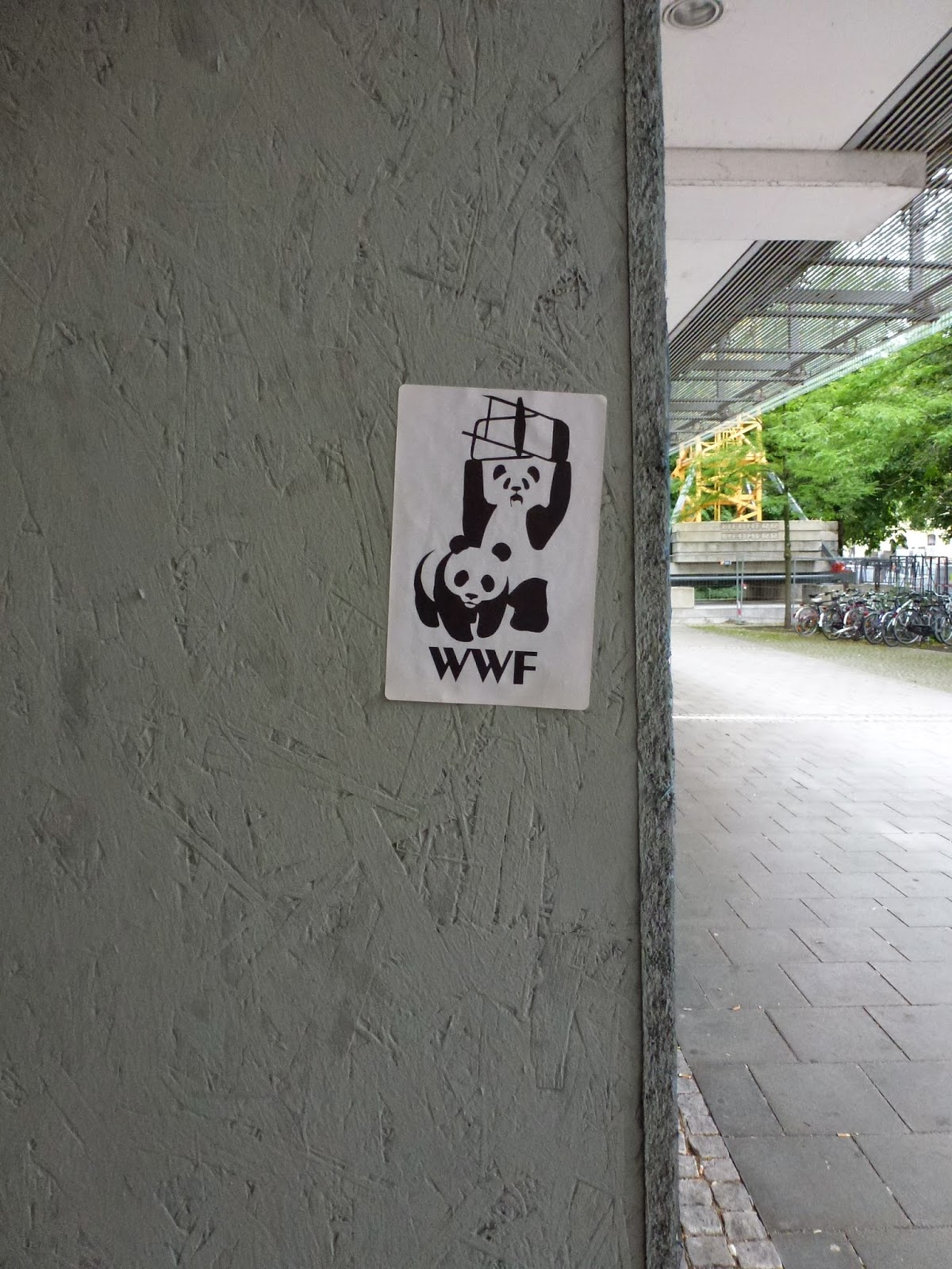 Pandas, Sticker, Streetart