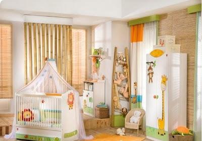 decoración estilo safari bebé