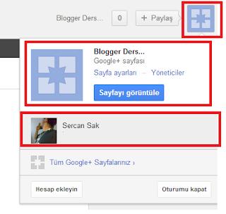 Google + Sayfası ve  Blog Entegresi