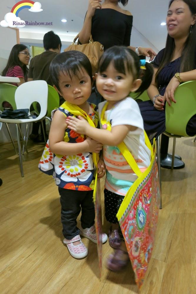 toddlers hug