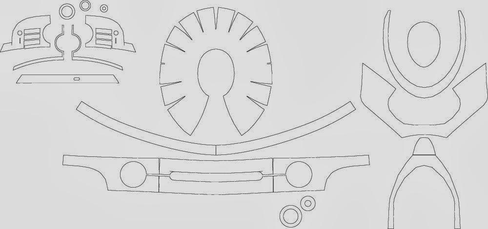 dali-lomo: How I: Build Robocop Helmet - Cardboard With Template